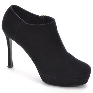 Yves Saint Laurent Suede Ankle Platform Booties 39